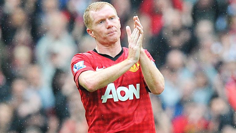 Scholes said goodbye to Manchester United