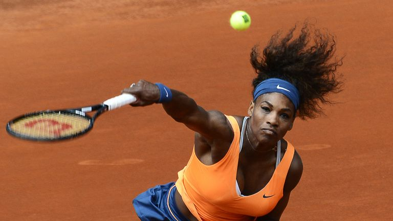 Serena Williams: American served two aces during second-round victory in Madrid