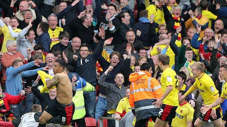 Watford: Will be backed by over 34,000 supporters