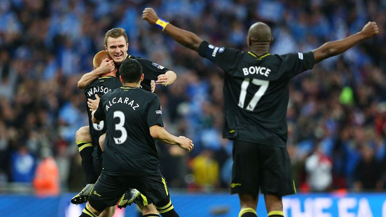 Wigan beat Manchester City in the 2013 FA Cup final