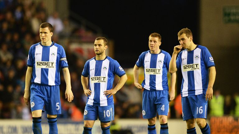 Wigan: could need a result at Arsenal to survive