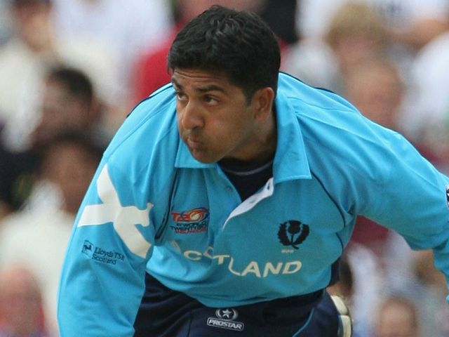 Majid Haq: Two wickets for Scotland