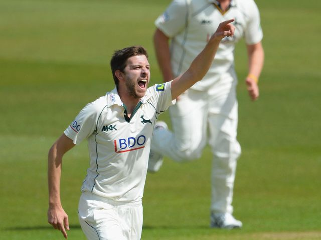 Harry Gurney: Helped propel Nottinghamshire to victory