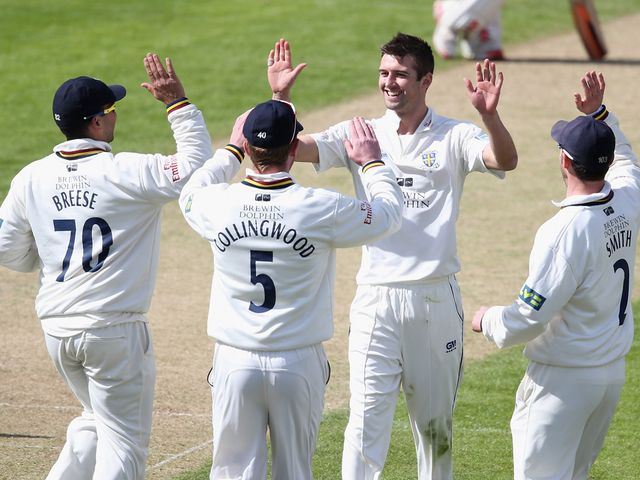 Mark Wood: Three wickets in four balls