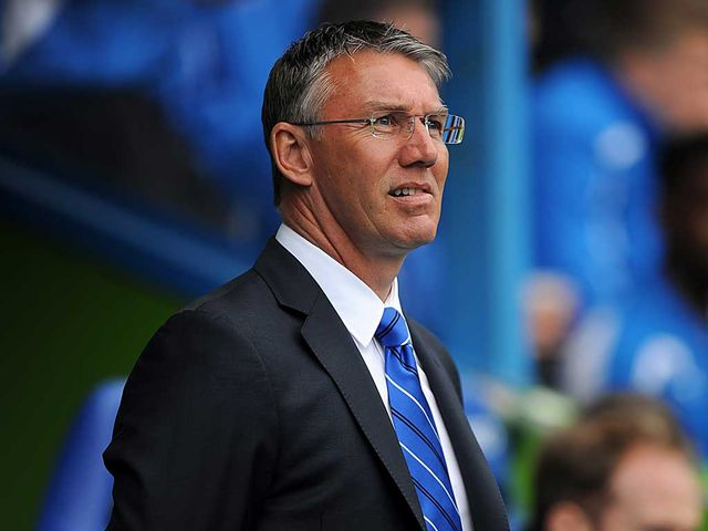 Adkins: Watched his side draw with Brighton