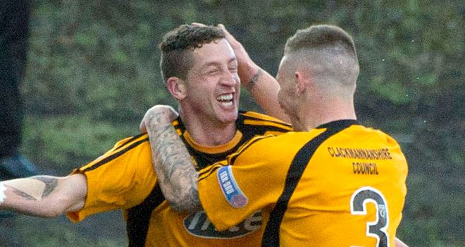 Alloa: Secured their place in the Scottish First Division