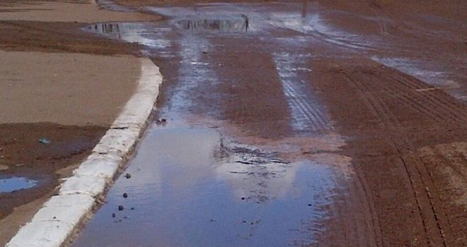 Water damage: The picture tweeted by Belle Vue on day of postponement