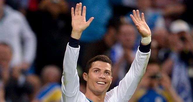 Cristiano Ronaldo celebrates his opening goal