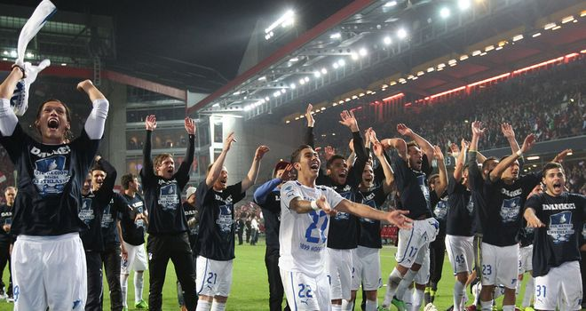 Hoffenheim celebrate their survival