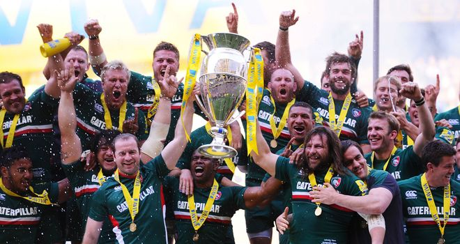 Leicester Tigers: Celebrate their 2012-13 Aviva Premiership Final success