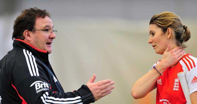 Mark Lane with England captain Charlotte Edwards