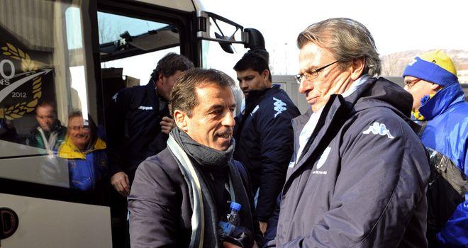 Pierre Berbizier with Jacky Lorenzetti