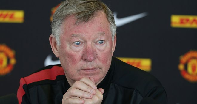 Ferguson: Celebrated United sealing a 13th Premier League win last month