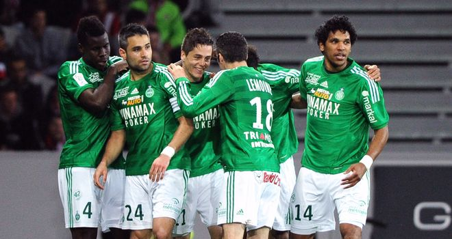 St Etienne clebrate after their goal