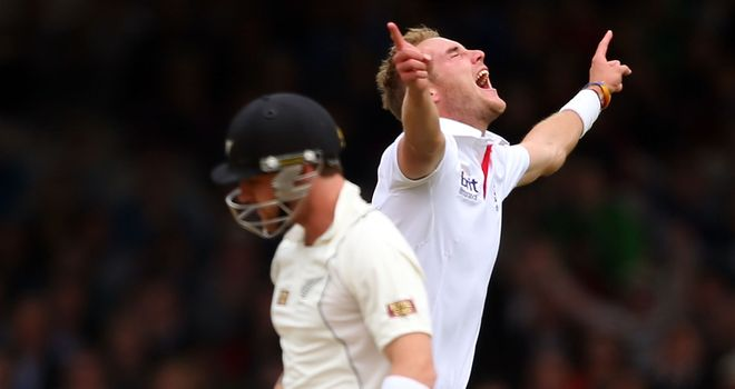 McCullum: his men were undone by Broad on Sunday