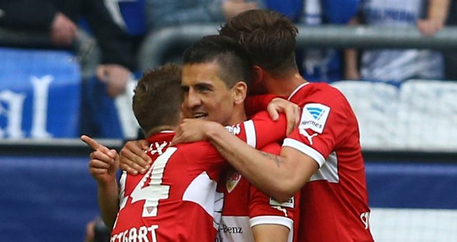 Stuttgart celebrate Vedad Ibisevic's double