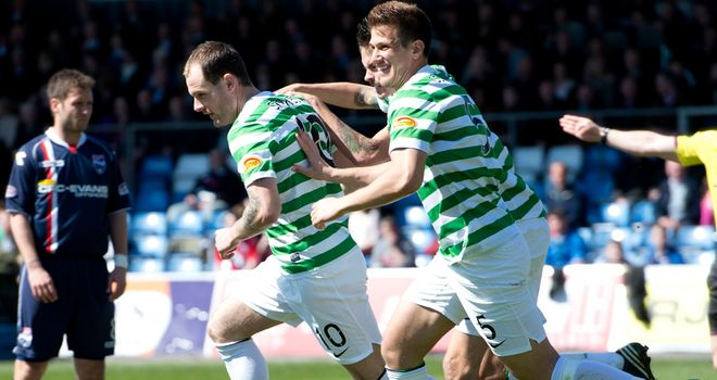 Anthony Stokes: Celebrates early strike
