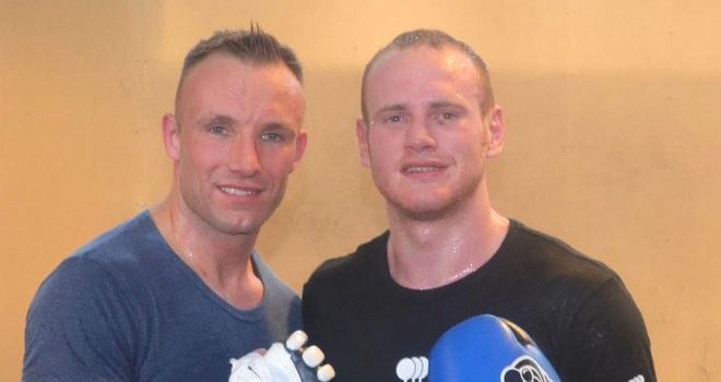 Groves and Kessler take a break from their friendly fire