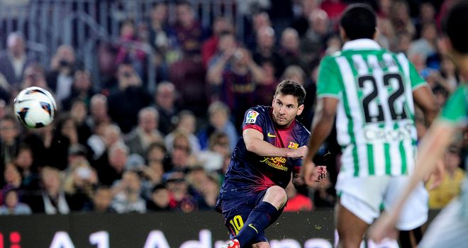 Lionel Messi gives Barcelona the lead