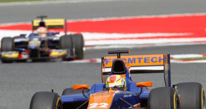 Robin Frijns: Won the GP2 Feature Race (Image: GP2 Series Media)