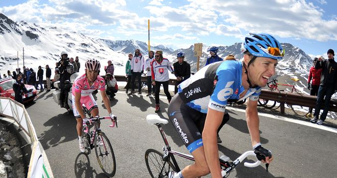 Ryder Hesjedal survived the Passo dello Stelvio on his way to Giro victory last year