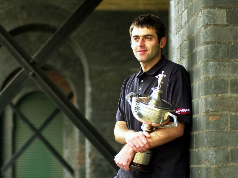 Ronnie O'Sullivan after his first World Championship win.
