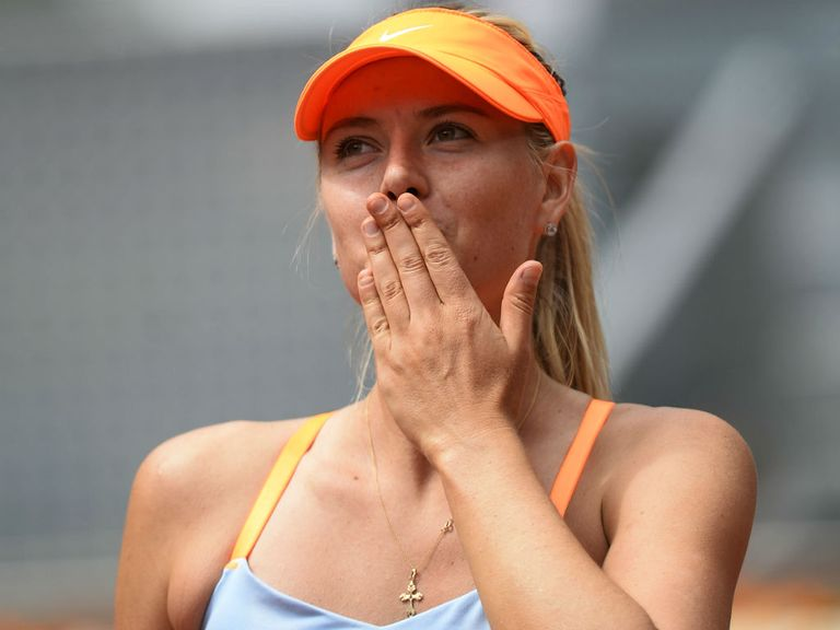 Maria Sharapova: Proved too strong for Kaia Kanepi