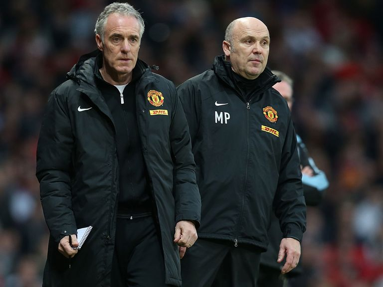 Eric Steele with former Man United assistant manager Mike Phelan