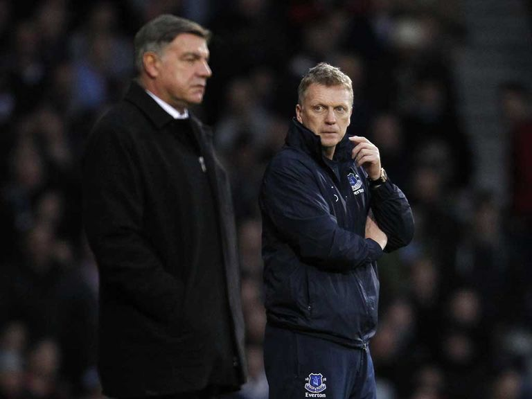 Sam Allardyce and David Moyes: Managers set to lock horns again at Upton Park