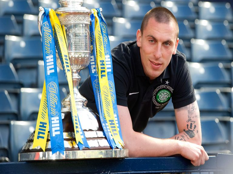 Scott Brown poses with the Scottish Cup