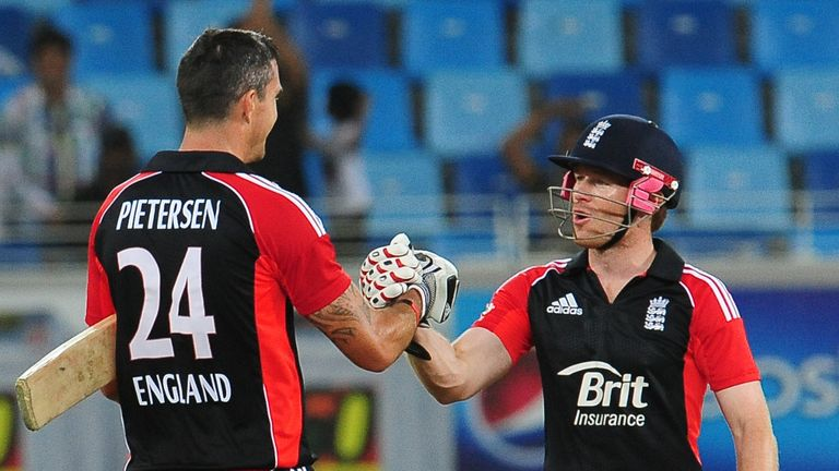 Eoin Morgan (r): Happy to have Kevin Pietersen at his disposal