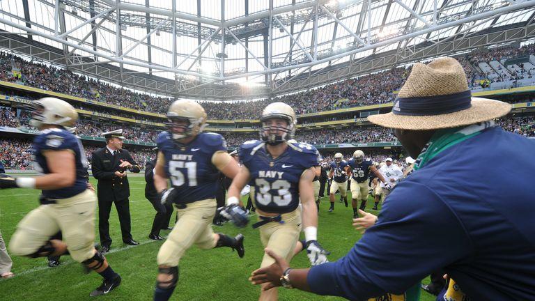 Navy stars took on Notre Dame in the Aviva Stadium last year