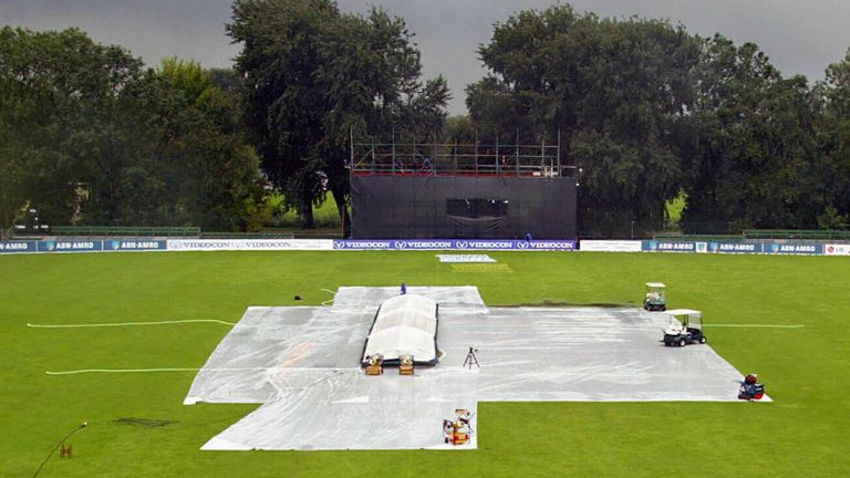 Another rainy day at Amstelveen caused the YB40 clash to be called off without a ball bowled
