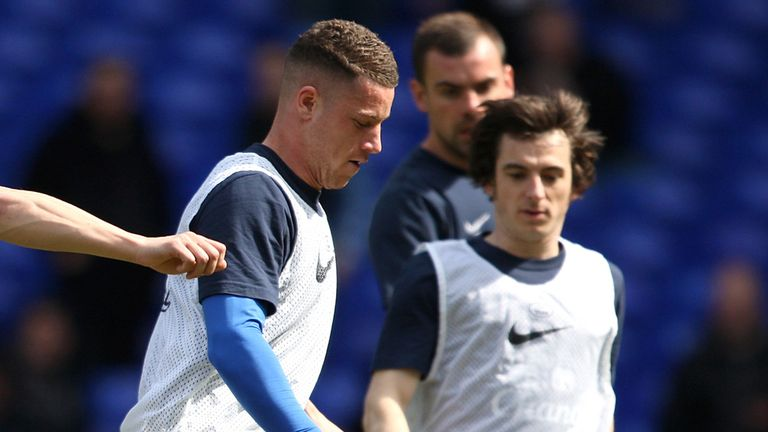 Ross Barkley and Leighton Baines: Everton team-mates