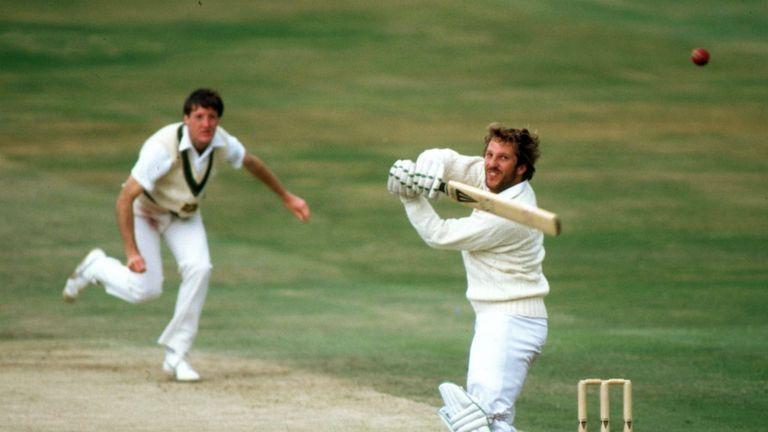 Sir Ian Botham led England to a famous Ashes win in 1981