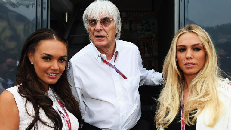 Ecclestone pictured in 2012 with daughters Petra and Tamara
