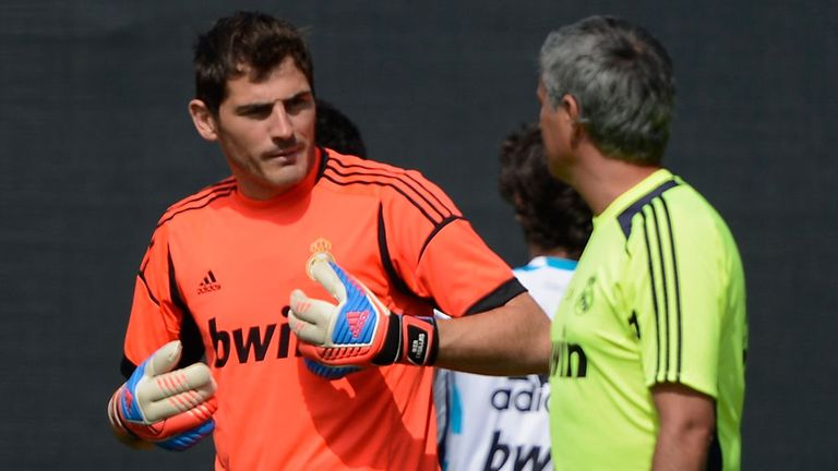 Iker Casillas and Jose Mourinho: On tour in the States last year