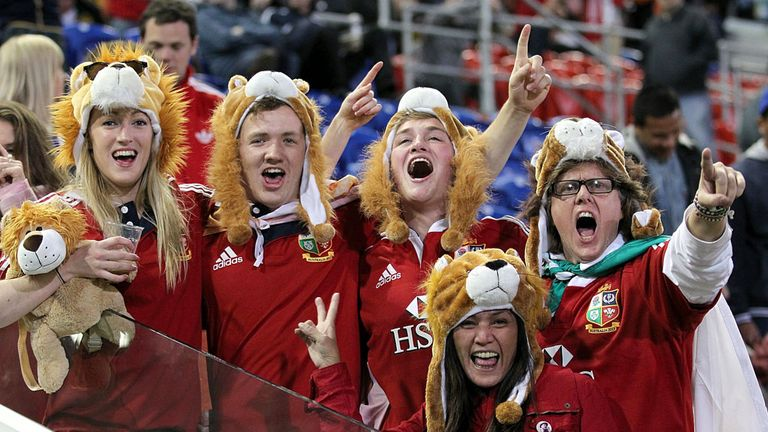Lions fans: Set to create at sea of red in Brisbane
