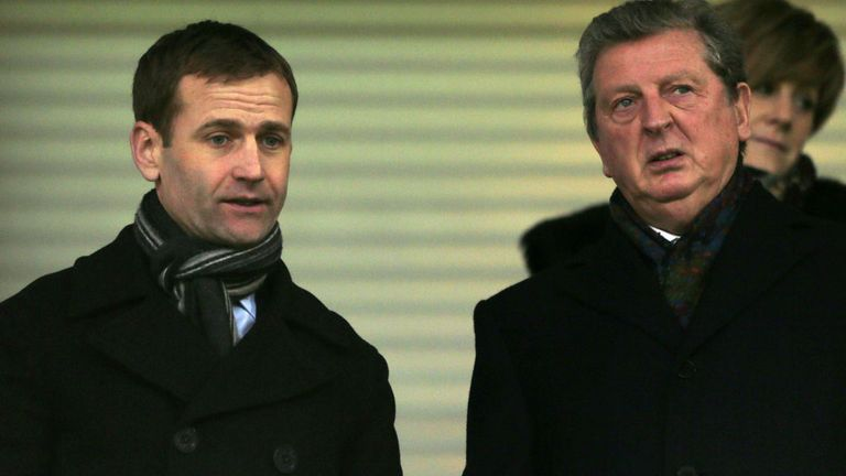 Dan Ashworth (l) with England manager Roy Hodgson