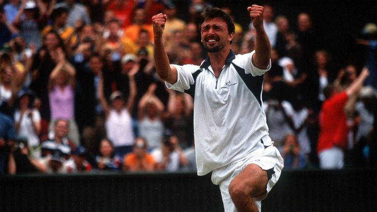 Big serving Croatian Goran Ivanisevic claimed the title in 2001