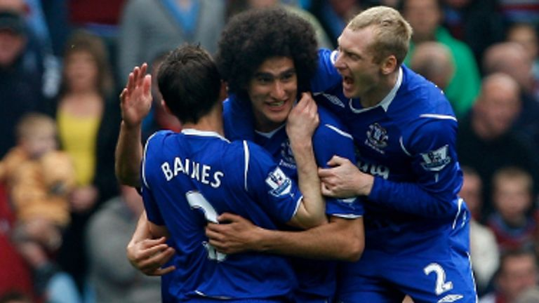 Marouane Fellaini and Leighton Baines: Everton boss Roberto Martinez confident key men will stay