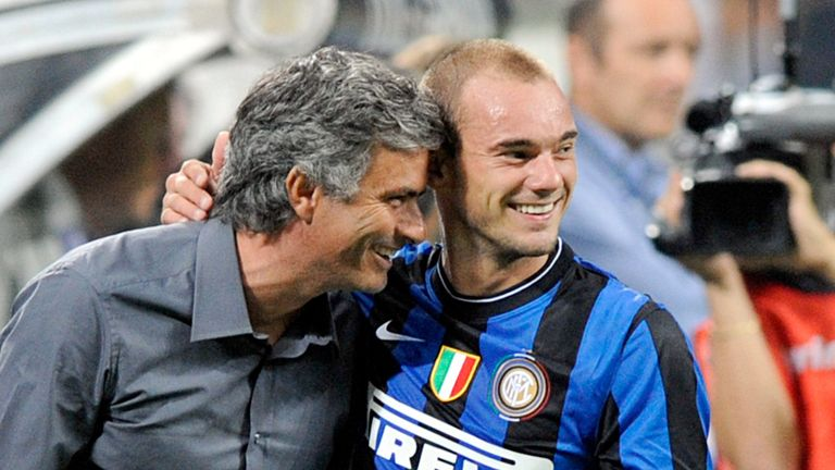 Wesley Sneijder: Former Inter Milan playmaker has a 'great relationship' with Jose Mourinho