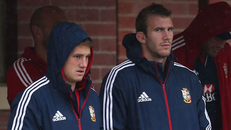 Jonathan Davies and Tom Croft: Watch on as the Lions train