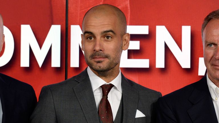 Pep Guardiola: Led the first day of pre-season training