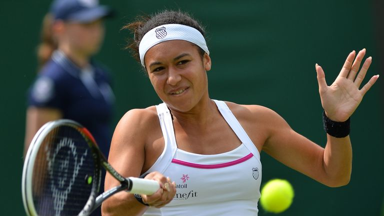 Heather Watson: British number two went down in straight sets