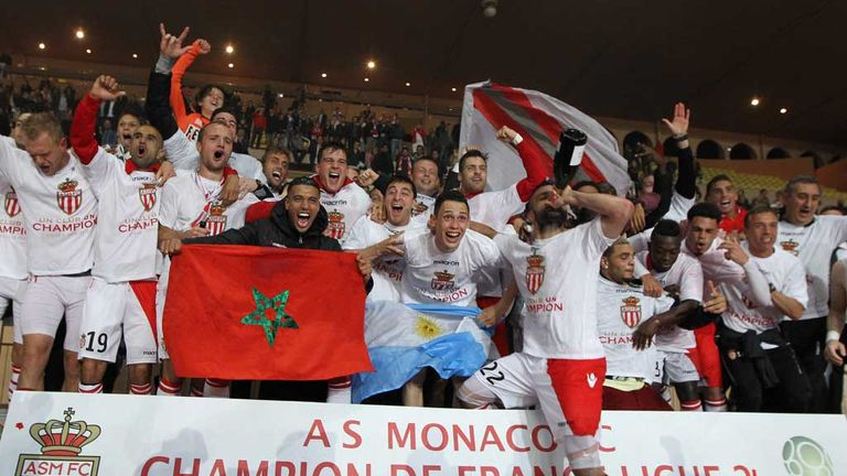 Monaco celebrate French Ligue 2 title success