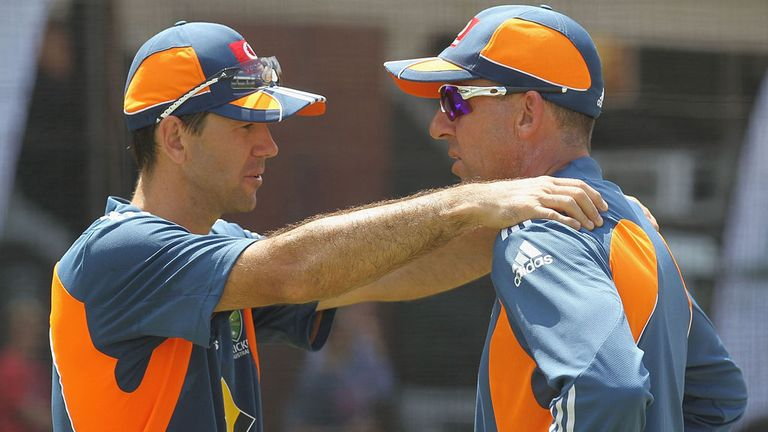 Former Australia coach Tim Nielsen with former captain Rocky Ponting