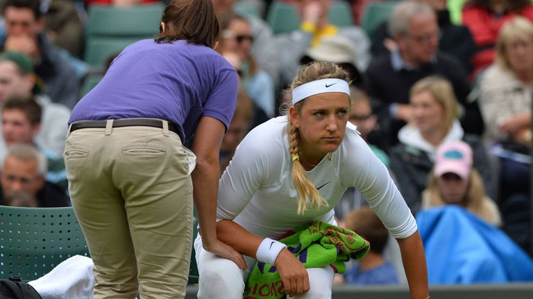 Victoria Azarenka: Suffered a right knee injury in her first round match