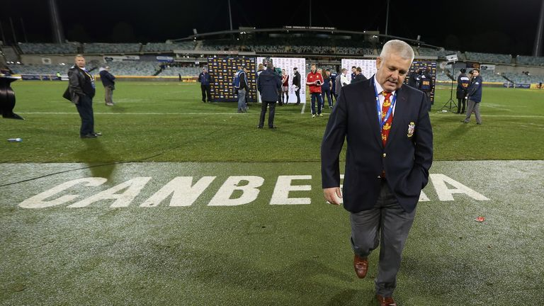 Warren Gatland: Frustrated after defeat to Brumbies
