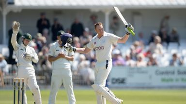 Andrew Gale: Yorkshire captain celebrates reaching three figures